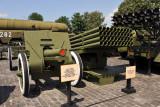 Soviet 122mm Howitzer and BM-21 Grad Rocket Launcher