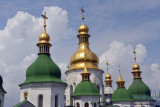 Golden tipped towers of St. Sophia's Cathedral, Kyiv
