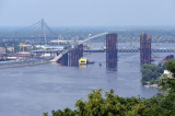 Bridge under construction over the Dniper River, July 2011