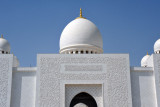The entire mosque is covered in white marble