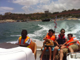 The HCTA driver delivered us to the boat so there was little hassle