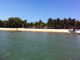 One of the bay side beach clubs on Ilha do Mussulo
