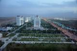 The lights of Ashgabat start to come on