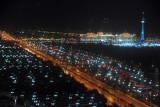 Ashgabat's Independence Park at night