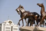 Monument to the Ahal Teke horses