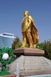 Golden statue of Turkmenbashy