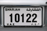 Another style of Sharjah license plate