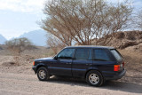 The Range Rover on the road to Hatta Pools