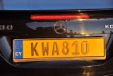 Republic of Cyprus License Plate (yellow)
