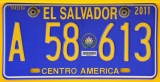 El Salvador - taxi license plate