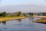 River crossing at El Tuela with a distant view of the Montañas de Chalatenango