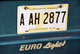 A yellow Honduran license plate