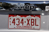 Red Colorado License Plate