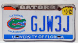 License Plate - University of Florida (Gators) National Champions