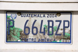 Guatemala License Plate with Tikal's Temple I
