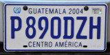 Guatemala License Plate