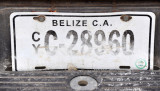 Belize License Plate, Flores, Guatemala