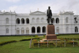 Colombo National Musuem with the statue of Governor Sir William Gregory