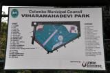 Map of Viharamahadevi Park, Colombo