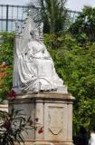 Statue of Queen Victoria tucked away next to the Natural History Museum