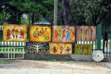 Art market along Nelum Pokuna Mawatha on the south side of Viharamahadevi Park