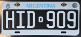 Licence Plate - Argentina