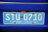 Turismo - Uruguay license plate