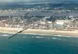 Flying over Daytona Beach, Florida