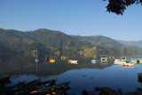 Calm Lake Phewa, early morning, Pokhara, Nepal