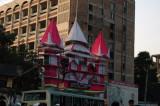 Decoration for a Hindu festival, Shankharia Bazar, Dhaka