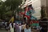 Hand-operated wooden ferris wheel, Dhaka