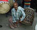 Hindu festival drummer, Shankharia Bazar-Dhaka