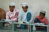 Boys reciting the Koran in a Dhaka medrassa