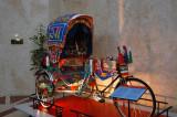 Bangladeshi rickshaw on display in the lobby of the Dhaka Sheraton for those who won't venture outside