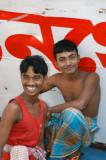 Bangladeshis hanging out at Sadar Ghat, Dhaka
