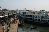 The big ferry Terminal at Sadar Ghat, Dhaka