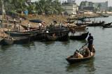 Rustic scene of life along the banks of the Buriganga River, Dhaka