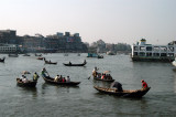 On the river...I can only picture what happens when the visibility drops...which is often in Dhaka