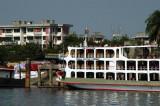 Ferry of the Bengal Shipping Company tied up riverside at Dhaka-Faridabad