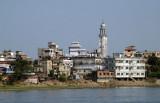 Minaret in Dhaka-Shyampur along the Buriganga River (N23 41.146/E090 26.012)