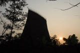 Bahnar Communal House nearing sunset, VN Museum of Ethnology