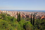 View from the top of the hill at Güell Park