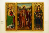 Triptych with St. John the Baptist, St Fabian and St. Sebastian; Miguel Ximénez 1494