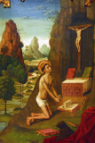 St. Jerome (Sant Jeroni) penitent; attributed to the Master of the Cathedral of Urgell, 1495