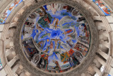 Dome of the National Art Museum of Catalonia with a variety of scenes