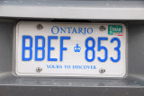 Canadian license plate - Ontario