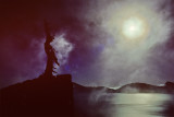 Crater Lake Snag w Moonlight or stopped down Sun