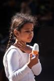 Little girl with icecream
