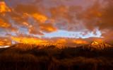 Sunrise reflecting on Mount  Fyffe,  Kaikoura