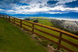 Kaikoura lookout with fence